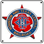 Houston & Texas Logo 6x6 Tin Sign