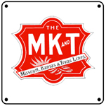 Katy MK&T Logo 6x6 Tin Sign