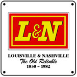 L&N Last Logo 6x6 Tin Sign