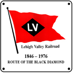 LV Flag Logo 6x6 Tin Sign