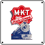 Katy Lines Steam 6x6 Tin Sign