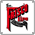 Frisco Time Table Cover 6x6 Tin Sign