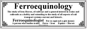 Tin Sign Ferroequinology