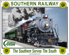 Tin Sign Southern 630 Steam