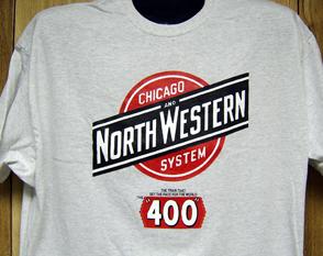 Chicago Great Western Railway Logo T Shirt