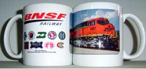 Coffee Mug BNSF Newest Painit