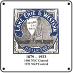 Lake Erie & Western 6x6 Logo Sign