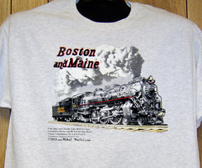 T-shirt Boston & Maine 3713 Steam