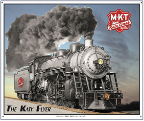 Tin Sign Katy Flyer Steamer