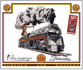 Mouse Pad N&W 4-8-4 Steam