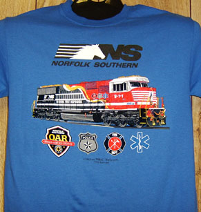 T-Shirt Norfolk Southern 911 Diesel Blue