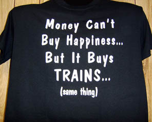 T-Shirt Money Buy Trains