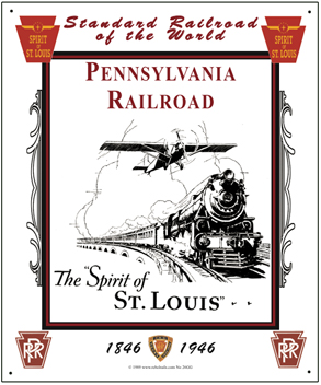 Tin Sign PRR Spirit of St. Louis