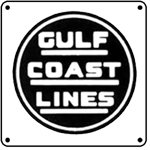 Gulf Coast Lines Logo 6x6 Tin Sign