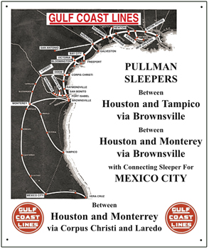 Gulf Coast Lines 10x12 Tin Sign