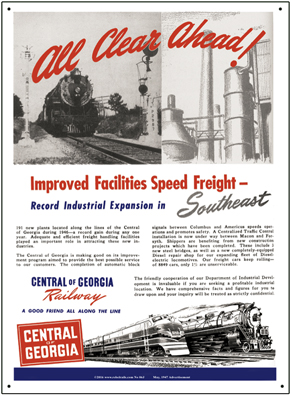 Tin Sign CofG 1947 Ad