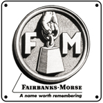 Fairbanks Morse Logo 6x6 Tin Sign