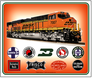 Mouse Pad BNSF Collage