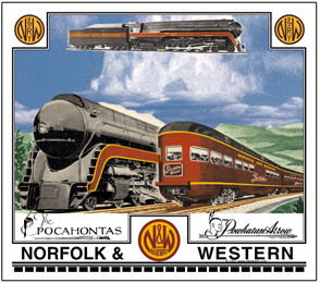 Mouse Pad N&W passing trains