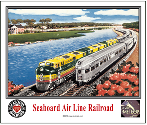 Mouse Pad Seaboard Passing Trains