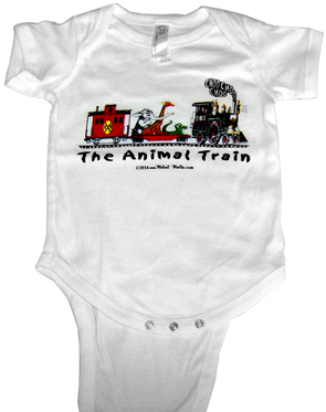 T-shirt Animal Train OneZee w/snaps
