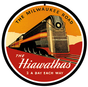 Milwaukee Hiawatha 4-6-4 Steam Logo Round