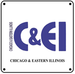 C&EI modern Logo 6x6 Tin Sign