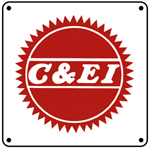 C&EI Buzz Saw Logo 6x6 Tin Sign