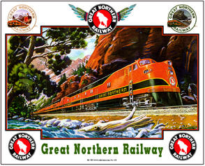 Tin Sign GN Empire Builder by Stream