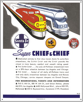 Tin Sign Chief-Super Chief