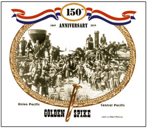 Mouse Pad Golden Spike 150th