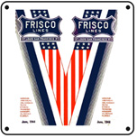 Frisco Victory Logo 6x6 Tin Sign
