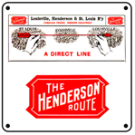 Henderson Route 6x6 Tin Sign