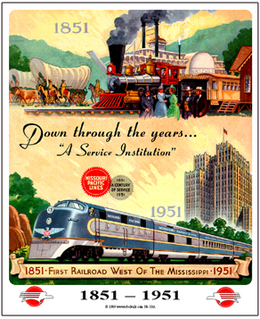 Tin Sign Missouri Pacific 100th