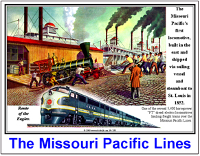 Tin Sign Missouri Pacific FT Ad