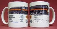Coffee Mug N&W 4-8-4 Steam w/specs