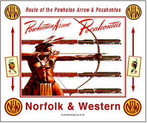 Tin Sign N&W Bow & Arrow