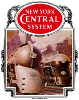 Tin Sign New York Central 20th Century
