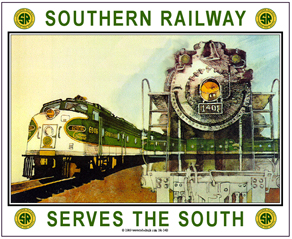 Tin Sign Southern Steam/Diesel