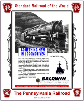 Tin Sign PRR Baldwin WWII