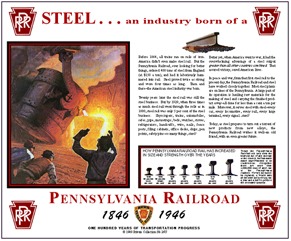 Tin Sign PRR Steel