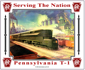 Tin Sign PRR T-1 Steam
