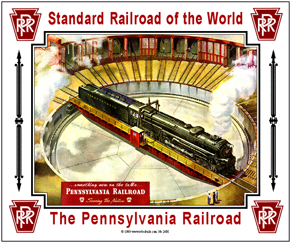 Tin Sign PRR Turntable