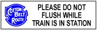 Tin Sign Cotton Belt Flush